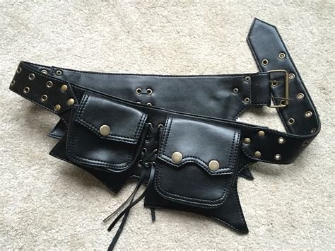 biker vegan leather belt