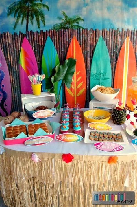 hawaiian christmas party ideas luau birthday ideas