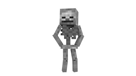 blender skeleton timelapse minecraft animation youtube