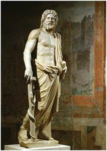 statues of gods marble statue of aesculapius the greek god of medicine