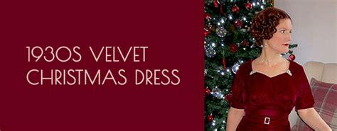 1930s velvet christmas dress vintage gal