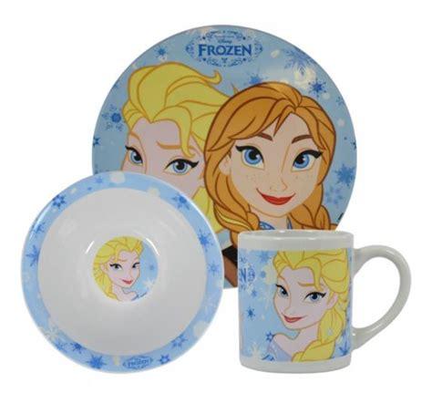 Disney Frozen Breakfast Set Pink disney frozen breakfast dinnerware set and elsa
