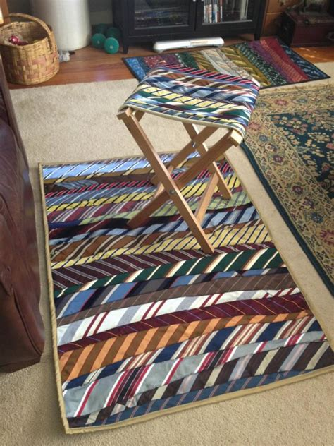 how to make a tie rug stylish and useful ways to upcycle neck ties