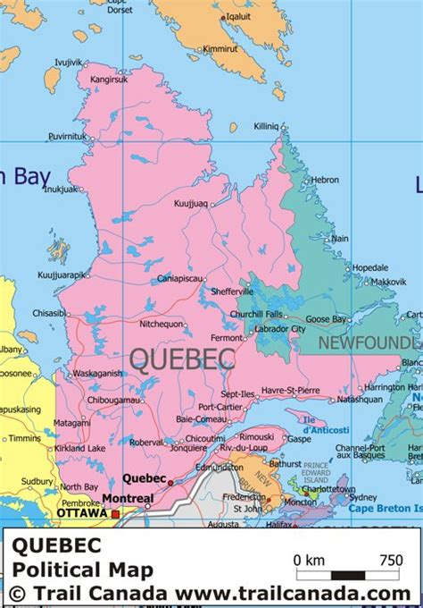 map canada montreal map of province with cities
