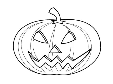 printable picture of jack o lantern jack o lantern coloring page free large images