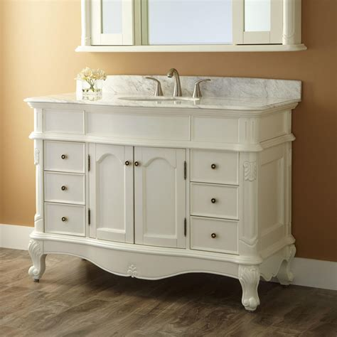 White Vanity 48 Quot Sedwick White Vanity Bathroom