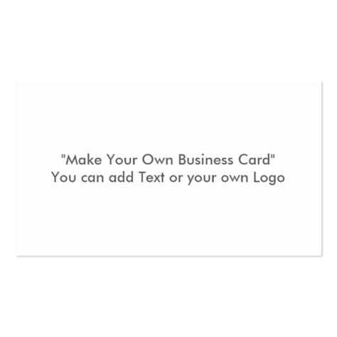 how to make your own business card template make your own business card zazzle
