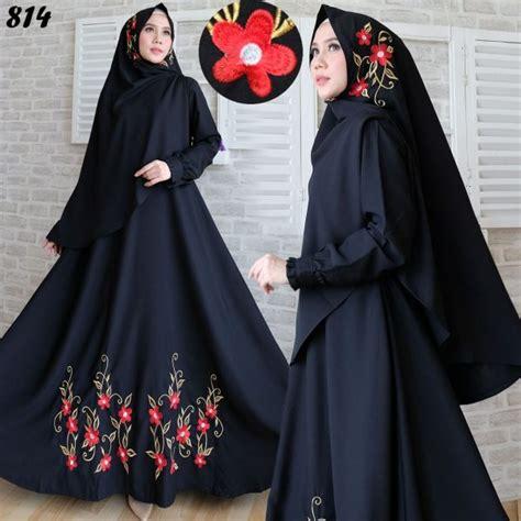 Jilbab Syar I Jilbab Syari Bordir gamis syari woolpeach bordir syar i c814 baju muslim