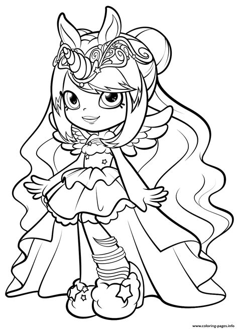 Shopkins Mysterbella Wild Style Shoppies Doll Coloring Pages Printable Colour In Pictures