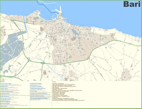 map of italy bari maps update 800966 italy city map tourist cities in