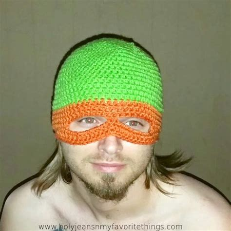 crochet pattern ninja mask ninja turtle crochet mask kids pinterest kid free