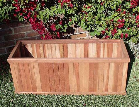 Vertical Planter Box by Heavy Duty Redwood Vertical Slat Planter Box