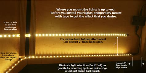 how to install led lights kitchen cabinets strips how to install leds cabinets