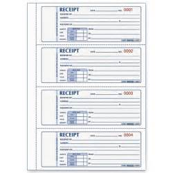 Rent Book Template by Free Printable Receipts Rediform Rent Receipt Book