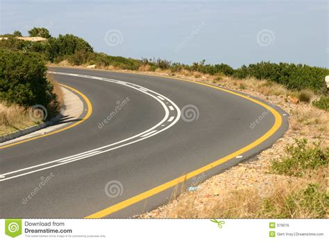 A Bend In The Road bend in the road stock photo image of line drive