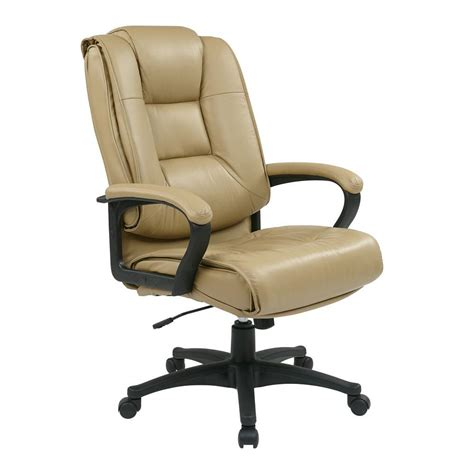 beige office desk chair office star tan leather high back executive office chair