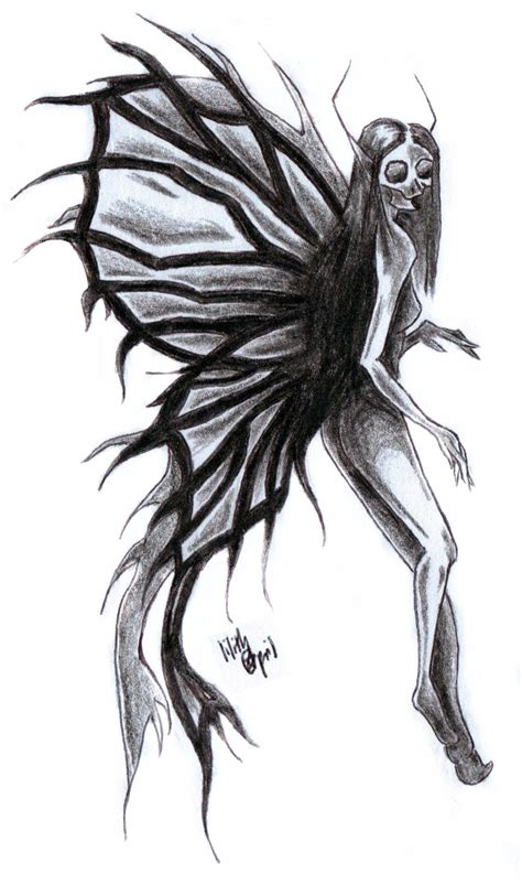 black fairy tattoo designs design