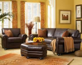 the leather sofa set in rome burnt orange living
