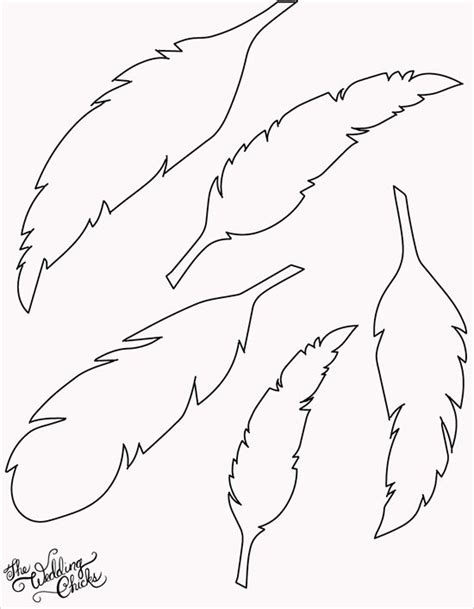 the gallery for gt indian feather template printable