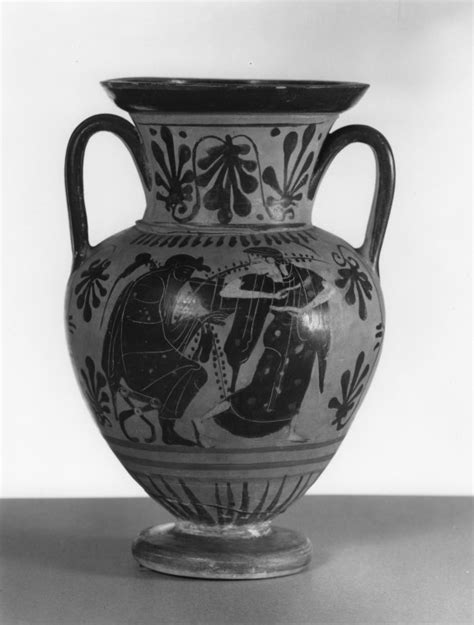 Dionysus Vase by Black Figure Hora With Dionysus And Bacchante 183 The