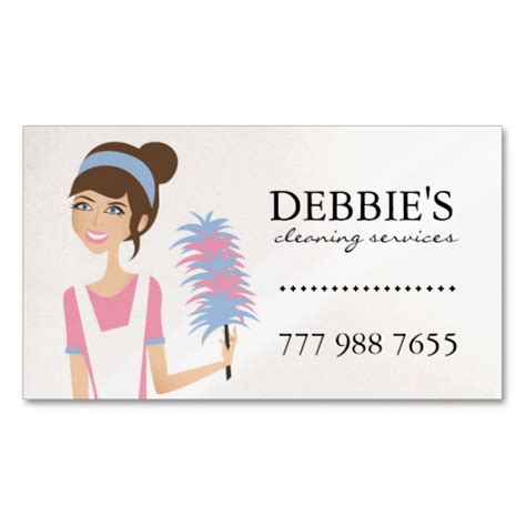 House Cleaning Gift Card - whimsical house cleaning services business cards cart 245 es de visita empresa de