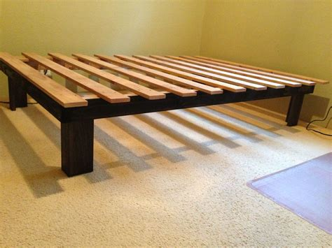 Cheap Low Bed Frames Cheap Easy Low Waste Platform Bed Plans Make Your Also Frame Interalle