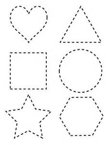 dotted line shapes coloring page netart