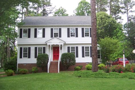 white house black shutters red door richmond home staging and redesign inc traditional exterior richmond by
