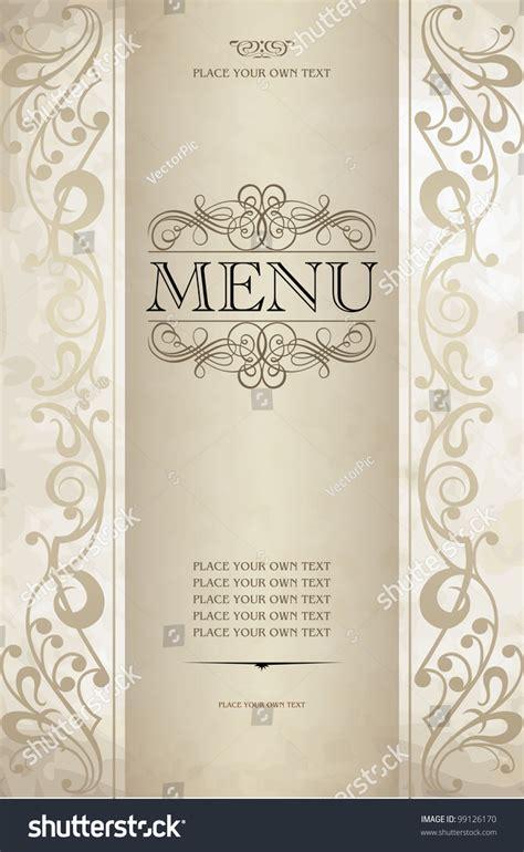 menu cover design vector menu cover vector design stock vector 99126170 shutterstock