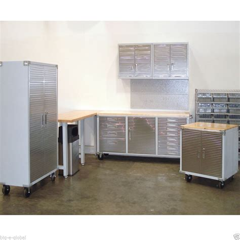 Metal Cabinets For Garage Storage by Garage Rolling Metal Steel Tool Box Storage Cabinet Wooden