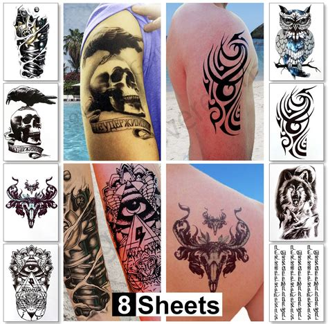 temporary body tattoos for men large temporary transfer tattoos stickers for