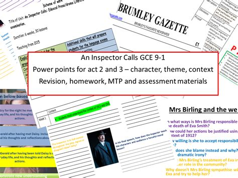 Revision Call For Entries by An Inspector Calls New Specification Gcse 9 1 With Context