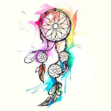 watercolor dreamcatcher tattoo design tattoo art