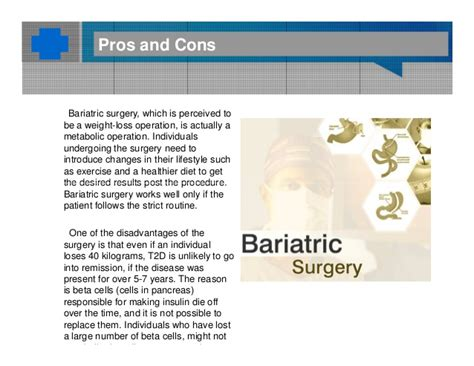 7 Pros And Cons Of Bariatric Surgery by Bariatric Surgery A Lifesaver For Type 2 Diabetes Patients