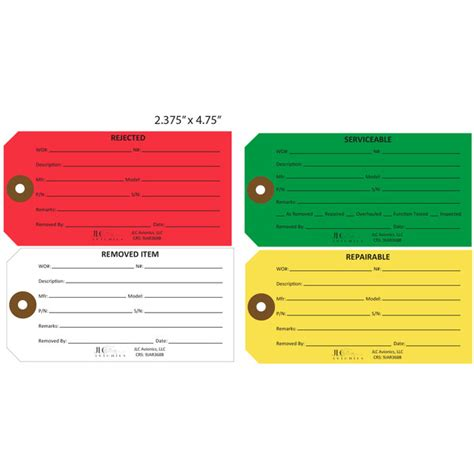 printable repair tags custom printed serviceable hang tags st louis tag