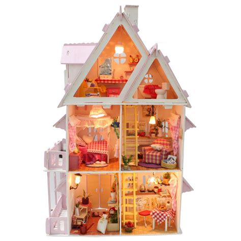 mini doll house furniture home decoration crafts diy doll house wooden doll houses