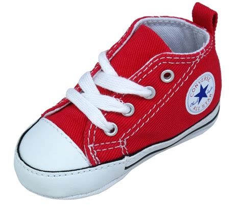 Converse Crib Shoes For Babies In Red From Landau Store Converse Baby Crib Shoes