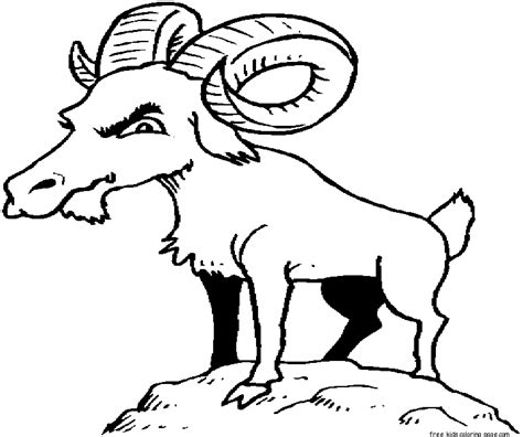 billy goats coloring pages printable billy goat colouring pages for kidsfree