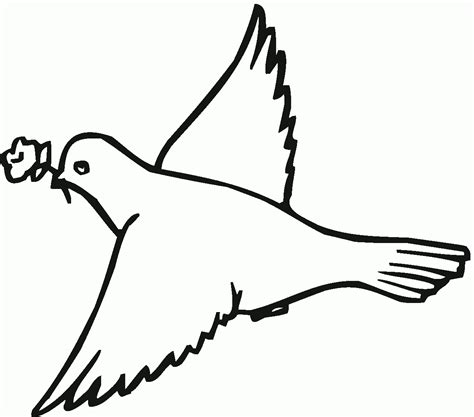 free coloring pages of pigeon peace