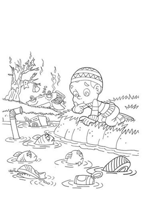 Water Pollution Coloring Pages coloring page water pollution fall classroom coloring coloring pages and water
