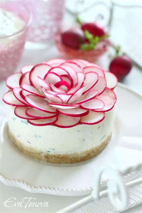 beautiful savory cheesecake  radishes  sites