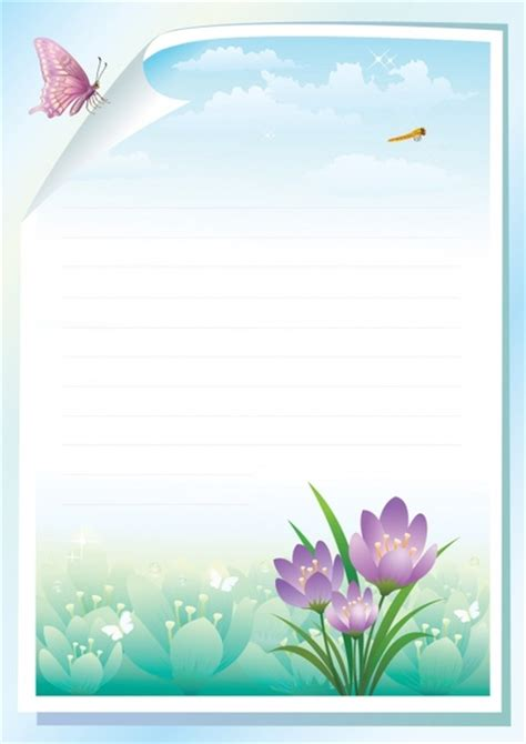 free printable vector stationery image gallery stationery borders