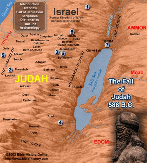 babylon and jerusalem map timeline of events the fall of judah with map bible