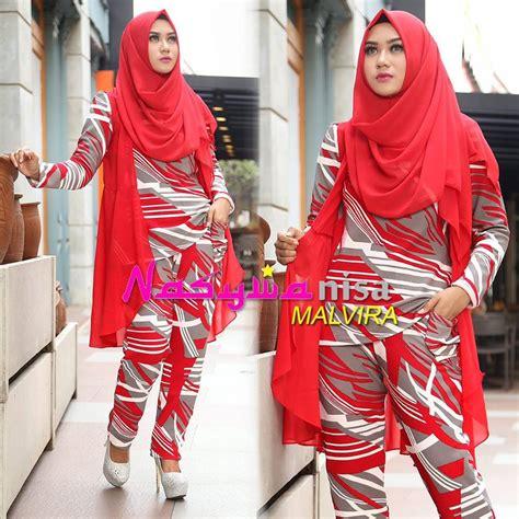 Stelan Celana Hitam Blouse Putih Wa malvira by nasywanisa jual busana muslim