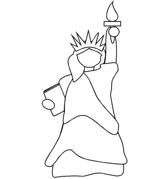 statue of liberty drawing outline free clip