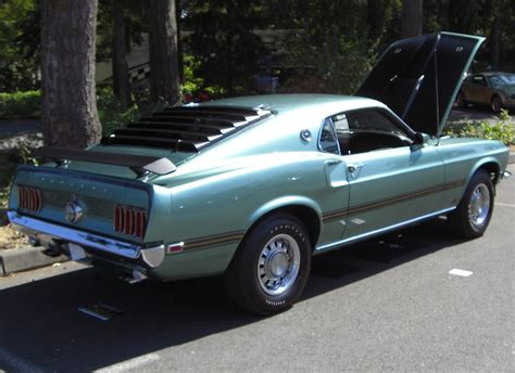 silver jade 1969 mach 1 ford mustang fastback mustangattitude photo detail
