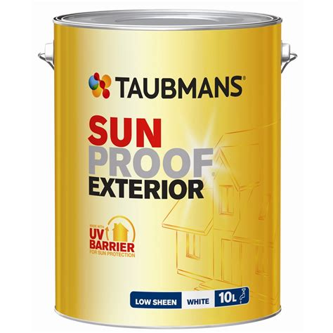 taubmans exterior paint colours taubmans sunproof 10l low sheen white exterior paint i n