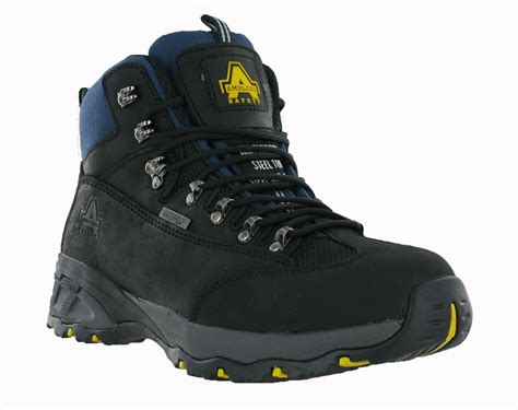 size 15 mens work boots amblers leather waterproof steel toe cap safety mens work