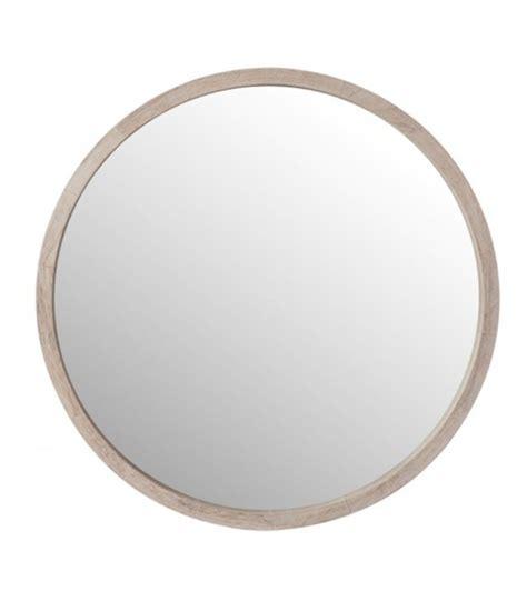 Miroir Rond 60 Cm by Miroir Rond En Bois Blanchi Diam 232 Tre 60cm