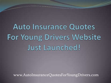 Insurance Quotes Drivers 1 auto insurance quotes for drivers